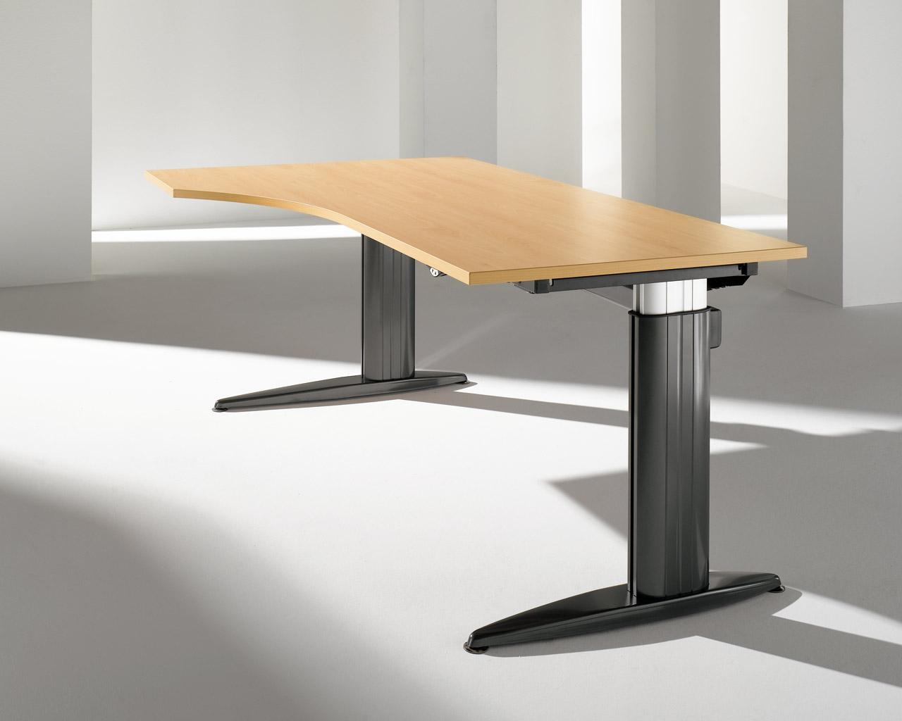 bz plankenhorn der schreibtisch h henverstellbar als steh sitz l sung. Black Bedroom Furniture Sets. Home Design Ideas